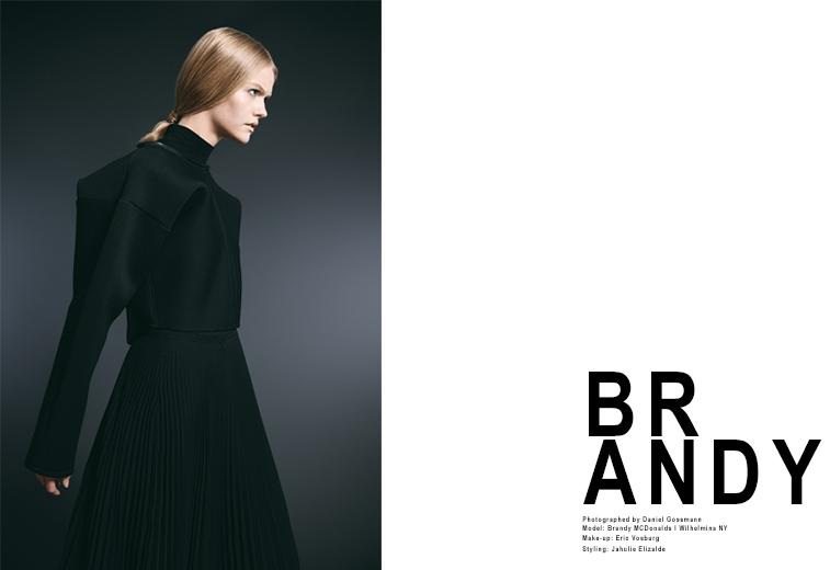 Brandy MacDonald by Daniel Gossmann for Wilhelmina Models New York H 1