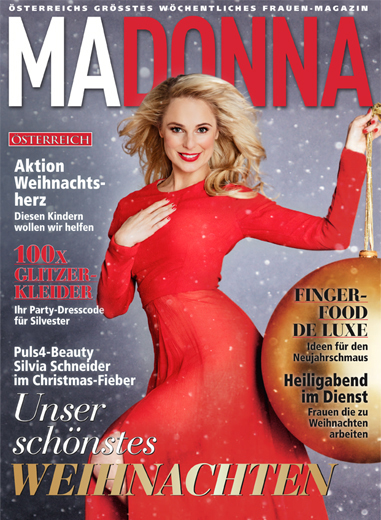 Silvia Schneider by Daniel Gossmann Madonna Magazin Cover 2016