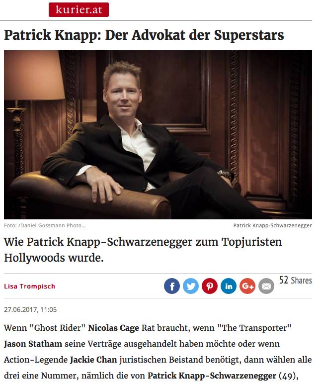 Patrick Knapp Schwarzenegger Kurier Interview